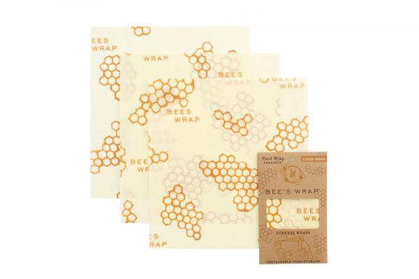 Bee's Wrap 3er-Set Käse - 25 x 27,5 cm