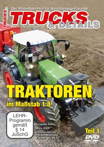 TRUCKS & Details DVD – Traktoren im Maßstab 1:8 – Teil 1