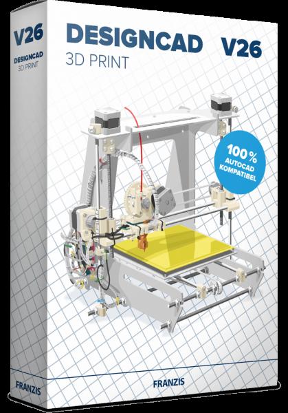 DesignCAD 3D PRINT V26