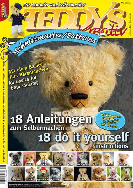 TEDDYS kreativ Schnittmuster 2 | Bücher | Teddys | alles-rund-ums-hobby