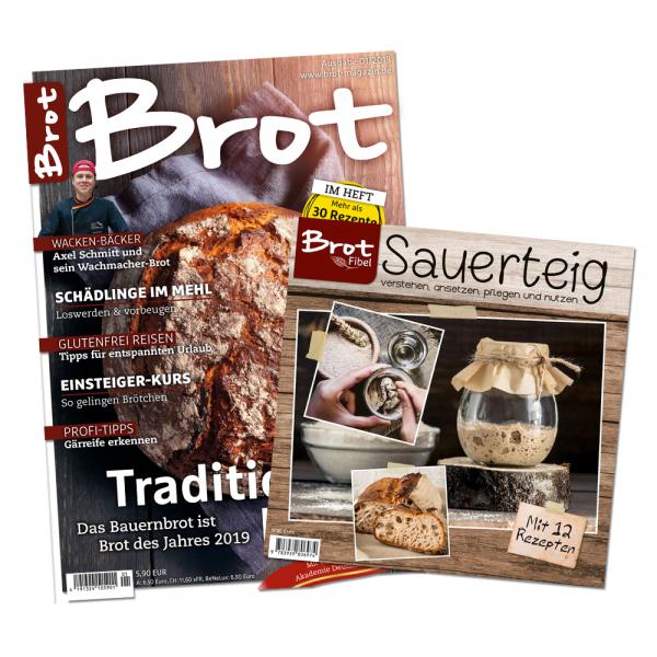 BROT – 2-Jahres-Auslands-Abonnement (weltweit) + BROTFibel Sauerteig